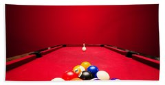 Billards Pool Game Beach Towel