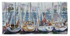 4 Boats Beach Towel