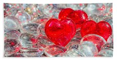 Crystal Heart Beach Towel