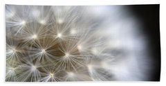 Dandelion Backlit Close Up Beach Sheet