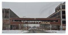 Detroit Packard Plant Beach Towel