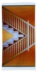 Distorted Stairs Beach Towel