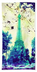 Eiffel Tower Beach Towel
