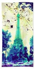 Eiffel Tower Beach Sheet