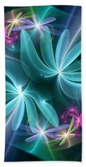 Ethereal Flowers Beach Towel by Svetlana Nikolova