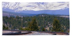 Freight On The Divide Beach Towel