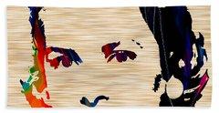 Grace Kelly  Beach Sheet by Marvin Blaine