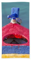 Greek Fishing Boat Beach Towel