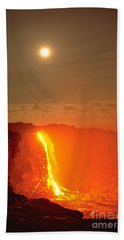 Kilauea Volcano Beach Towel