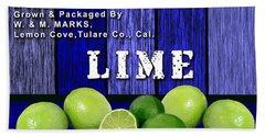 Lime Farm Beach Towel