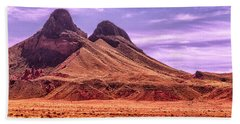 Navajo Nation Series Along 87 And 15 Beach Sheet by Bob and Nadine Johnston