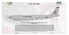 Northrop Grumman E-8c Jstars Beach Towel by Arthur Eggers