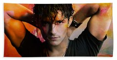 Orlando Bloom Beach Towel by Marvin Blaine