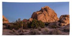 Rock Formations On Landscape Beach Towel