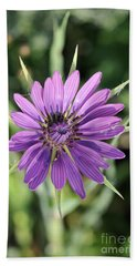 Beach Towel featuring the photograph Salsify Flower by George Atsametakis