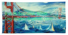 San Francisco Golden Gate Bridge Beach Towel
