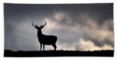Stag Silhouette Beach Towel