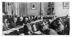 Treaty Of Versailles, 1919 Beach Towel