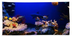 Underwater Scene Beach Towel