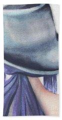 Beach Sheet featuring the painting What Lies Ahead Series by Chrisann Ellis