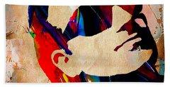 Bono U2 Beach Towel by Marvin Blaine
