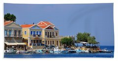Colorful Symi Beach Towel