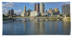 Fx1l-802 Columbus Ohio Skyline Photo Beach Sheet