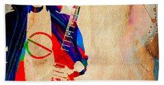 Eddie Van Halen Collection Beach Sheet by Marvin Blaine