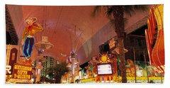 Fremont Street Experience Las Vegas Nv Beach Towel