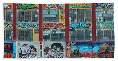 5 Pointz Graffiti Art 10 Beach Sheet