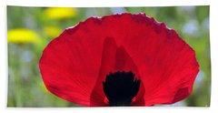 Poppy Flower Beach Towel by George Atsametakis