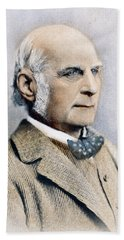 Beach Towel featuring the photograph Sir Francis Galton (1822-1911) by Granger