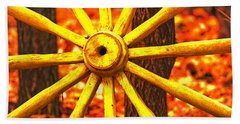 Wheels Of Time Beach Towel