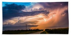 Wicked Good Nebraska Supercell Beach Towel