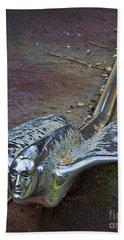 50s Cadillac Hood Ornament #2 Beach Towel
