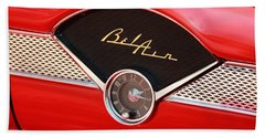 Classic Cars Beach Towel featuring the photograph '56 Bel Air by Aaron Berg