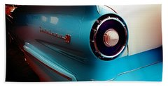Aaron Berg Photography Beach Towel featuring the photograph '57 Fairlane 500 by Aaron Berg