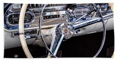 58 Cadillac Dashboard Beach Sheet by Jerry Fornarotto