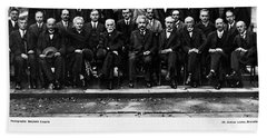 5th Solvay Conference Of 1927 Beach Sheet