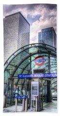 Canary Wharf Beach Towel by David Pyatt