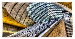 Canary Wharf Station Beach Towel