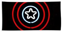 Captain America Beach Sheet by Kelly Awad