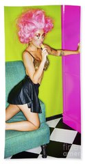 Fashion Girl Beach Towel