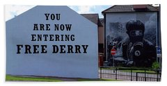 Free Derry Corner 3 Beach Towel