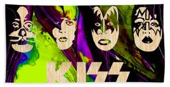 Kiss Collection Beach Towel by Marvin Blaine