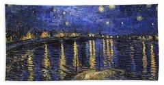 Starry Night Over The Rhone Beach Towel