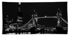 The Shard And Tower Bridge Beach Sheet