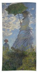 Woman With A Parasol Beach Towel