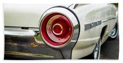 62 Thunderbird Tail Light Beach Towel by Jerry Fornarotto