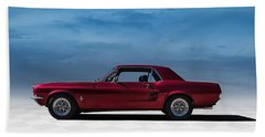 67 Mustang Beach Towel